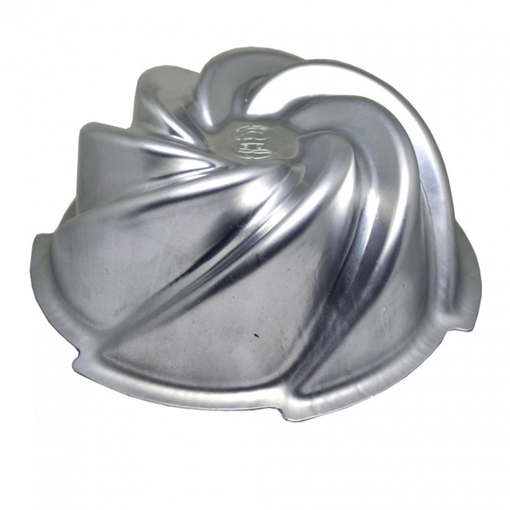 Forma Vulcao para Bolo em Aluminio Polido 13cm - Caparroz