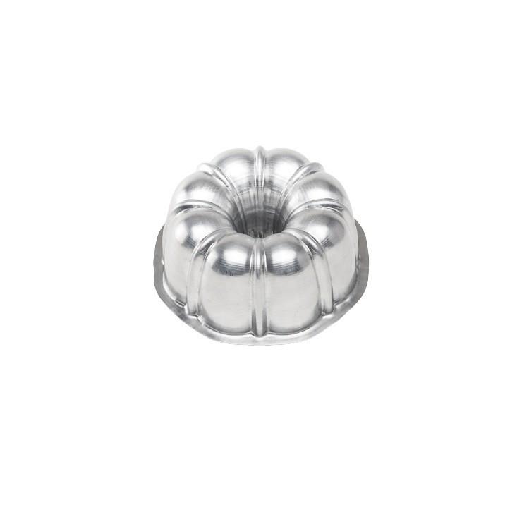 Forma Suica para Bolo em Aluminio Polido 13cm - Caparroz