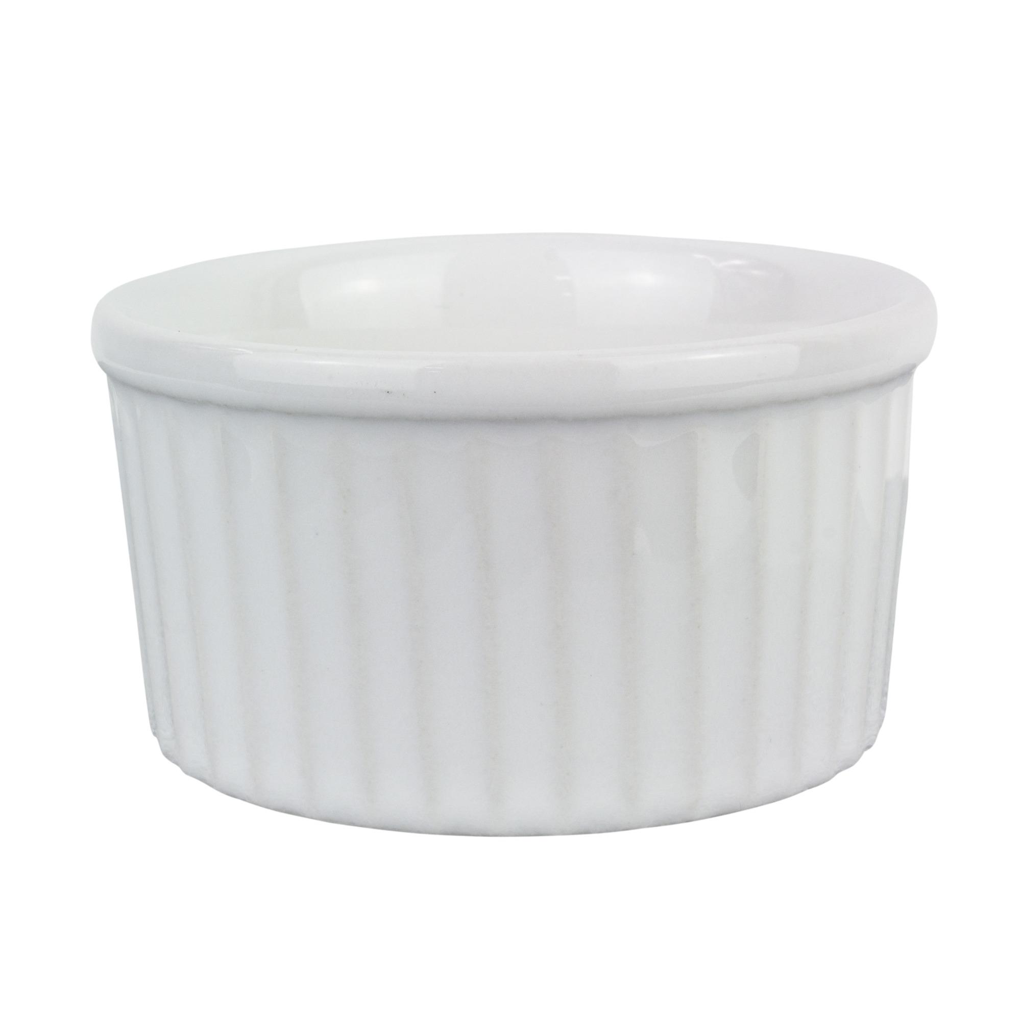 Tigela Ramequim de Porcelana 8x4cm Branco - Oxford