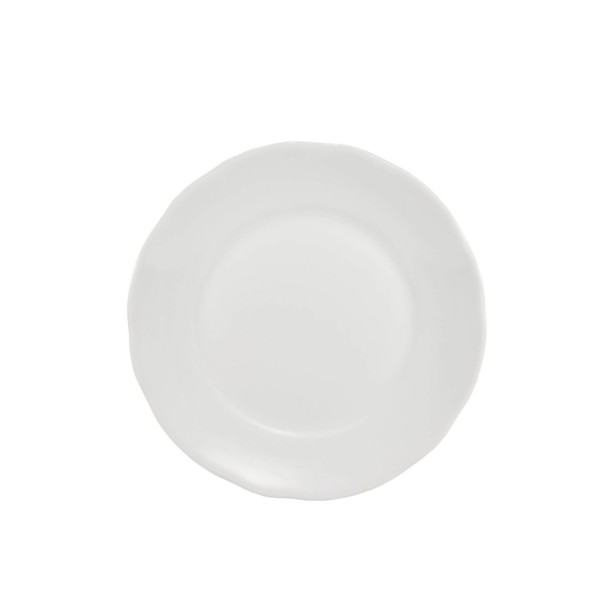 Prato Sobremesa Redondo de Porcelana 19cm Branco - Schmidt