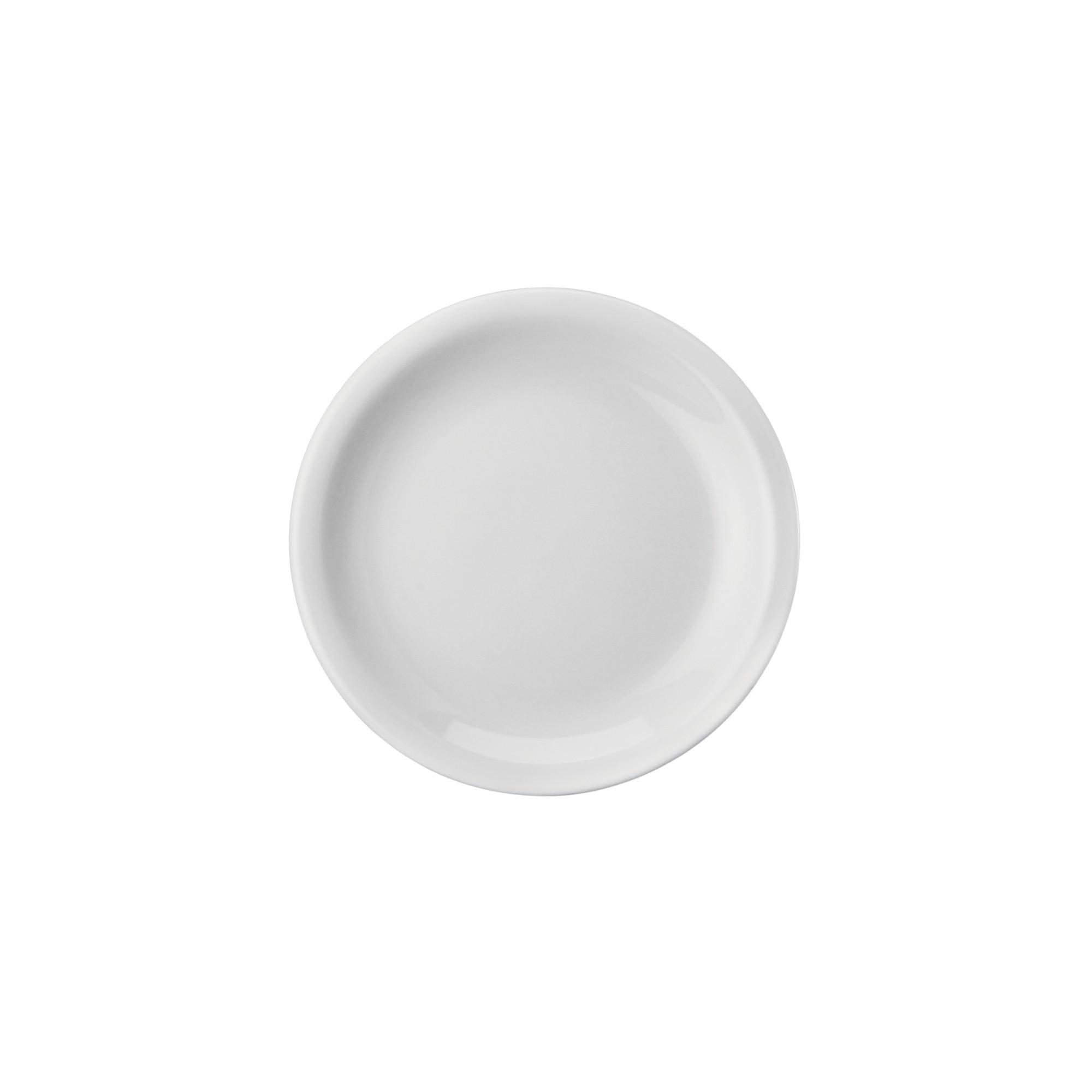 Prato para Sobremesa Redondo de Porcelana 19cm Branco - Schmidt