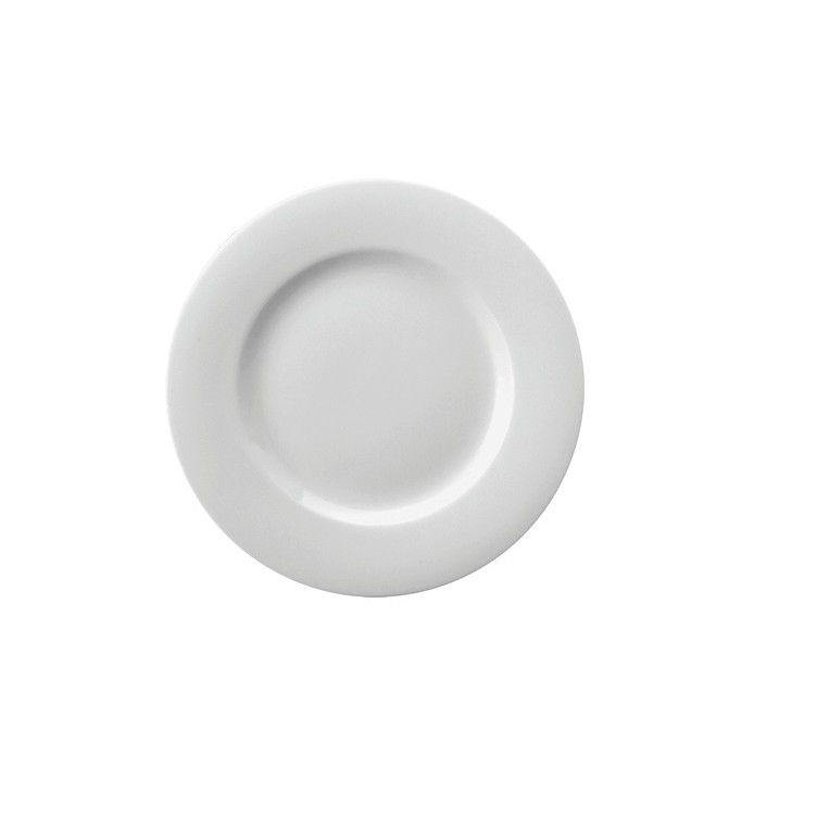Prato Pao Redondo de Porcelana 16cm Branco - Schmidt