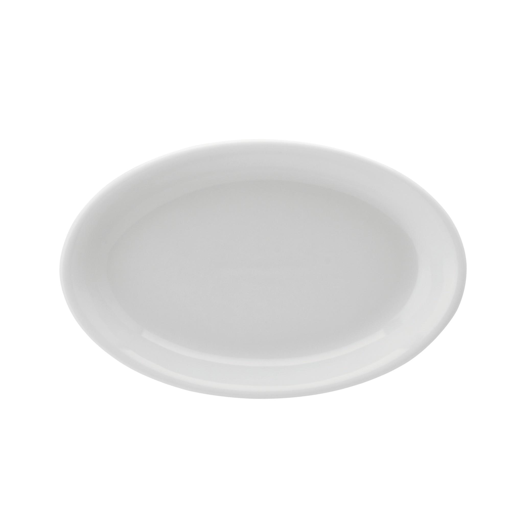 Travessa de Porcelana Oval 21cm Branca - Schmidt