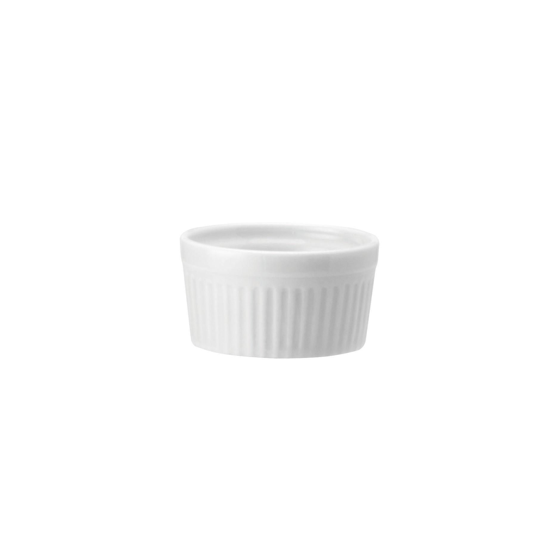 Ramequin de Porcelana Redondo 8cm Branco - Schmidt