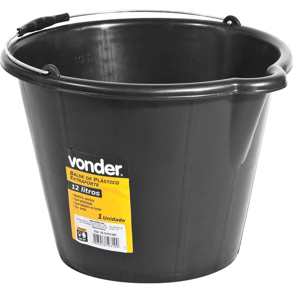 Balde de Plastico para Concreto 12 litros - Vonder