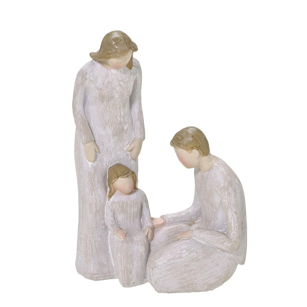 Enfeite Decorativo Familia de Resina 17cm - Mabruk
