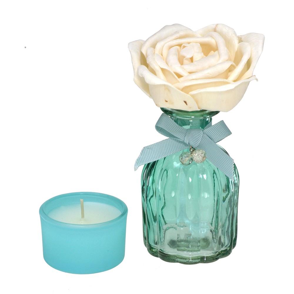 Kit Vela e Difusor Decorativo Azul - Mabruk