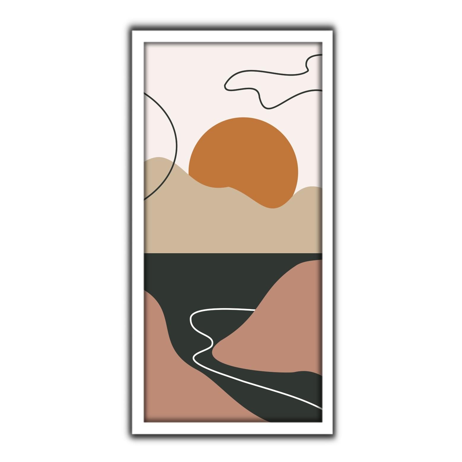 Quadro Decorativo 33x70cm Folhagem 90411 - Art Frame