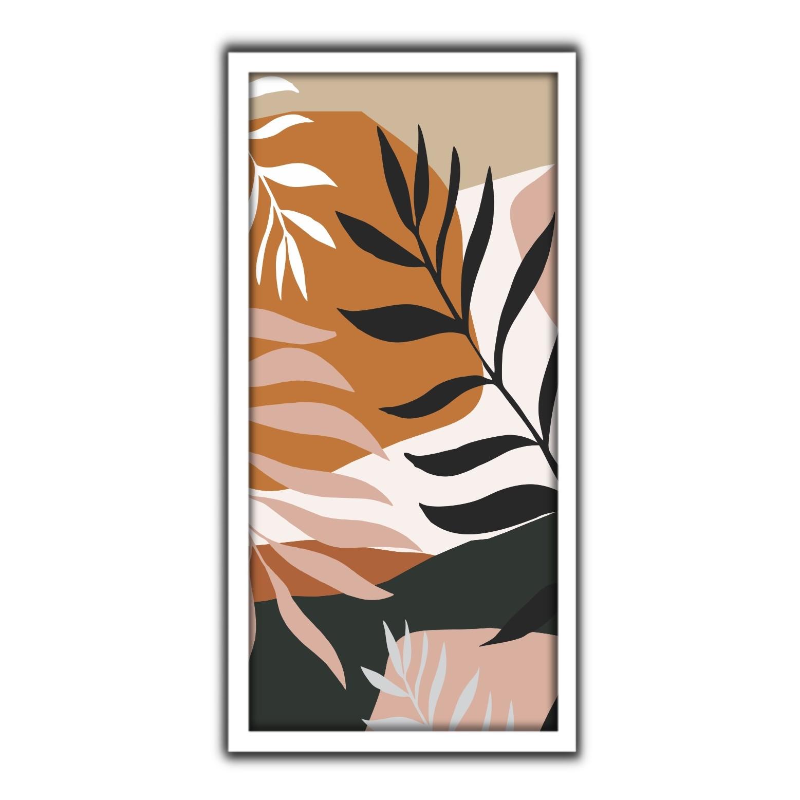Quadro Decorativo 33x70cm Folhagem 90412 - Art Frame