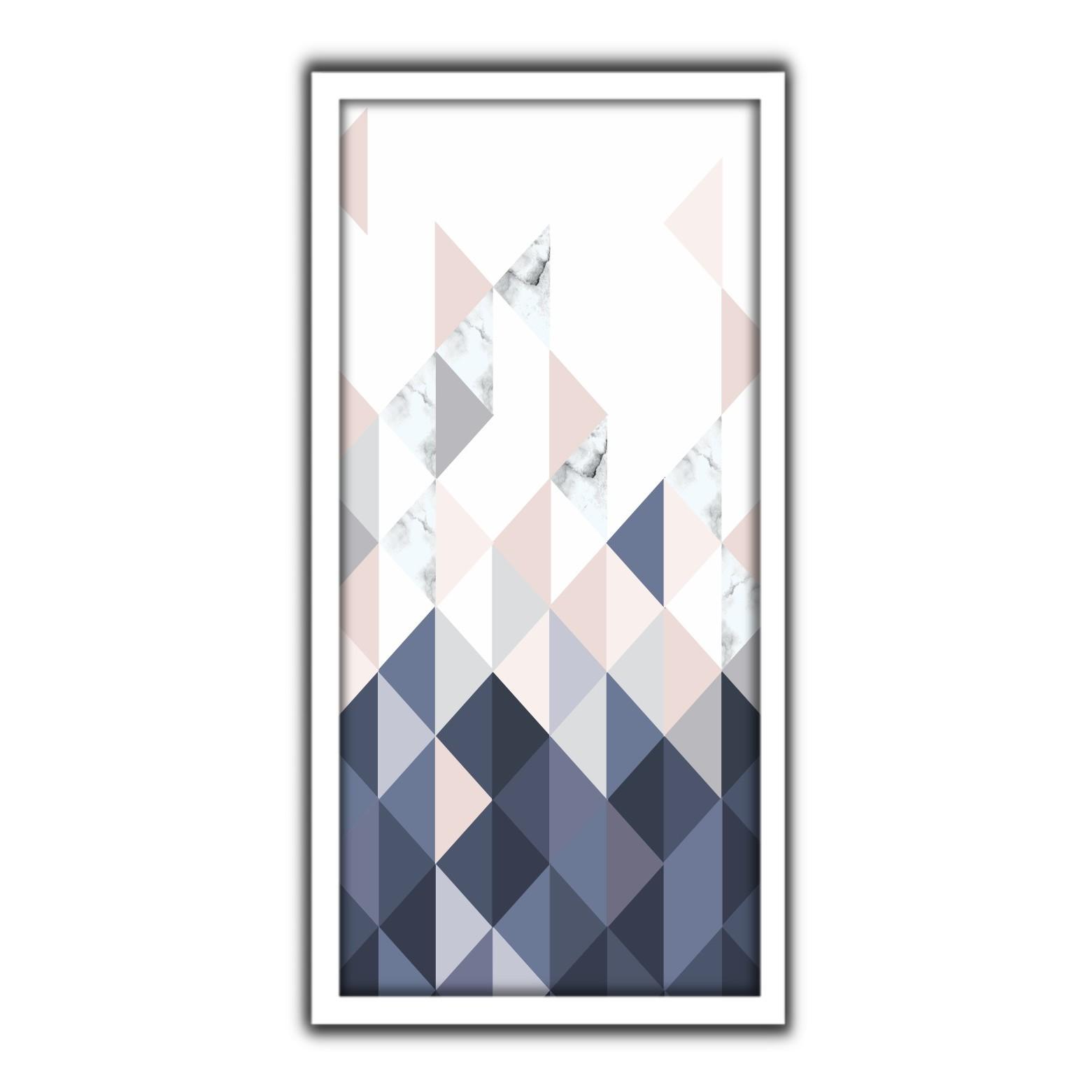 Quadro Decorativo 33x70cm Geometrico 90417 - Art Frame