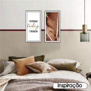 Quadro Decorativo 33x70cm Yesterday Today Tomorrow - Art Frame