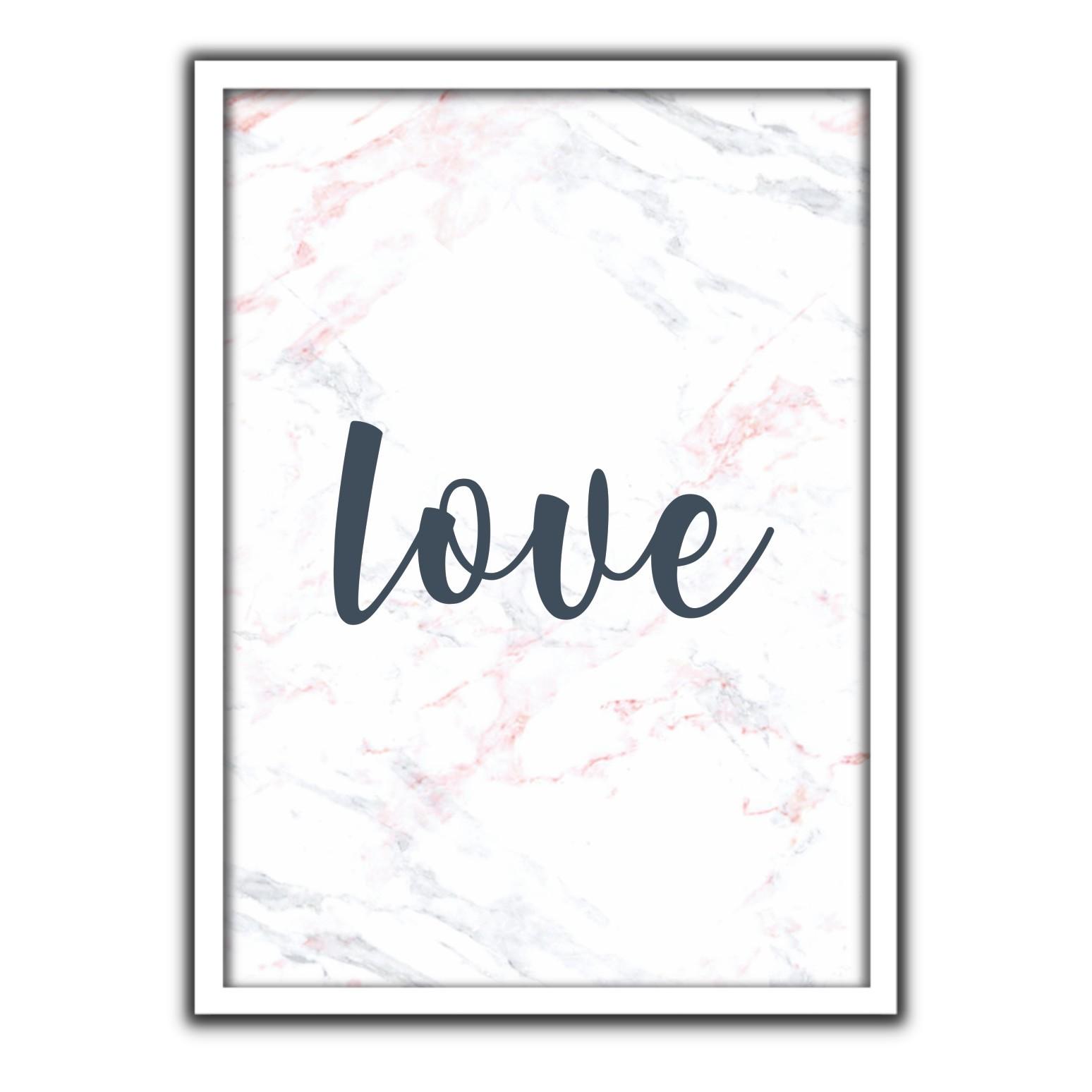 Quadro Decorativo 50x70cm Love - Art Frame
