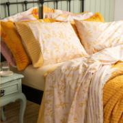 Jogo de Lençol Casal Amarelo 4 peças 100% Algodão Clean - Artex