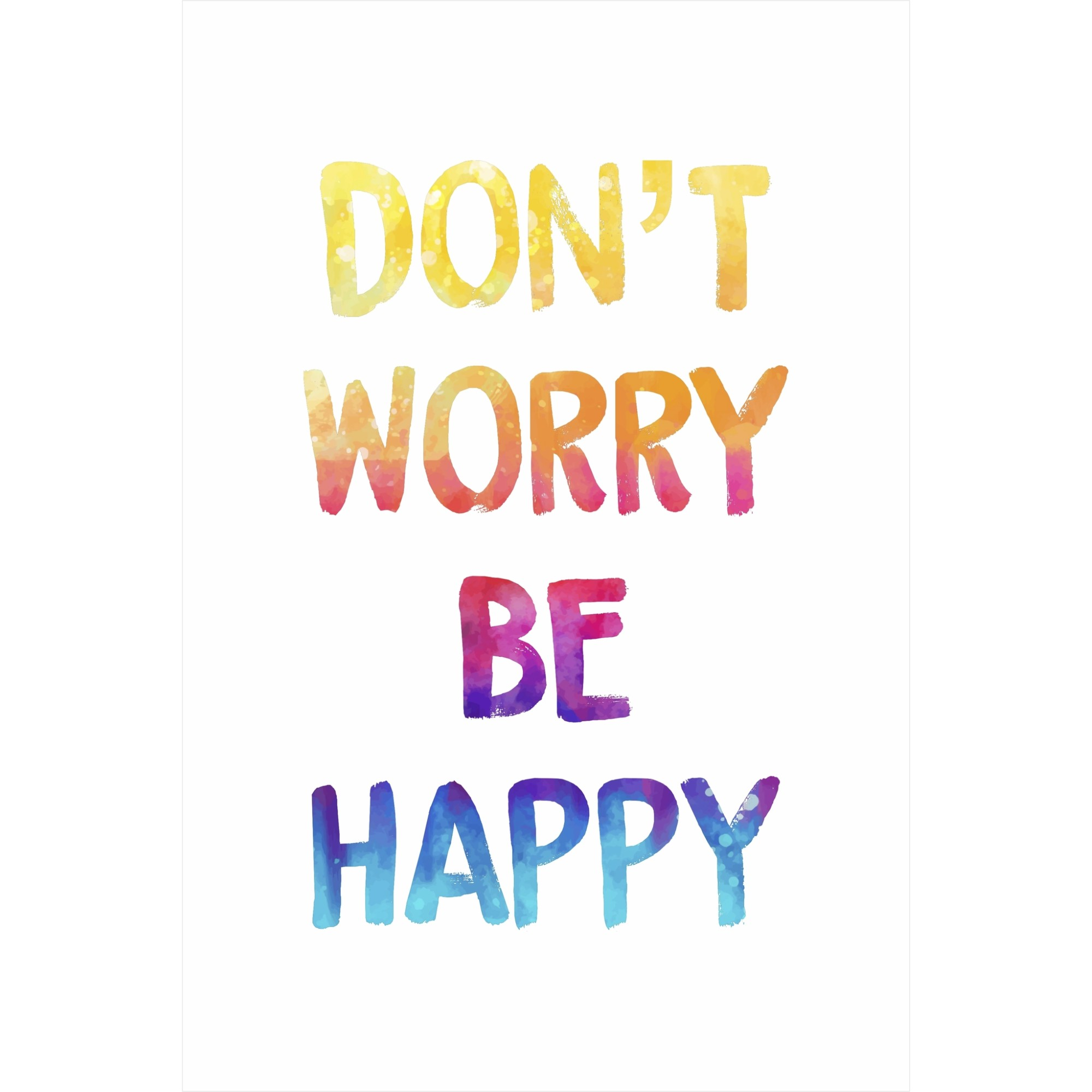 Placa Decorativa 20x30 cm Dont Worry Be Happy - Kapos