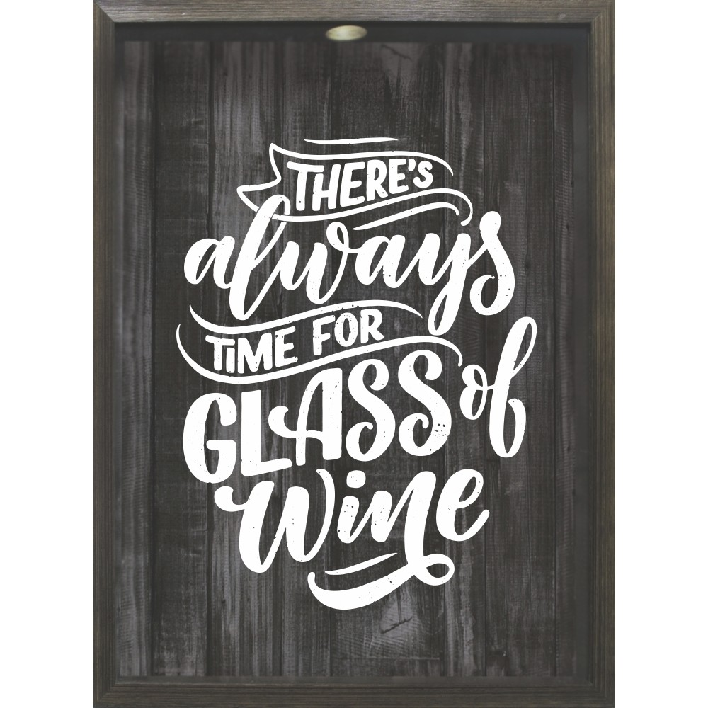 Quadro Decorativo 32x42 cm Glass Of - Kapos