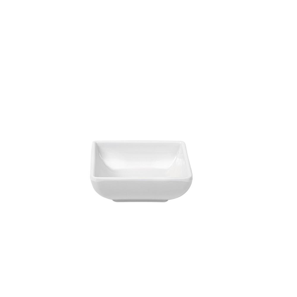 Tigela Finger Food de Melamina 75x75cm Branca - Marcamix