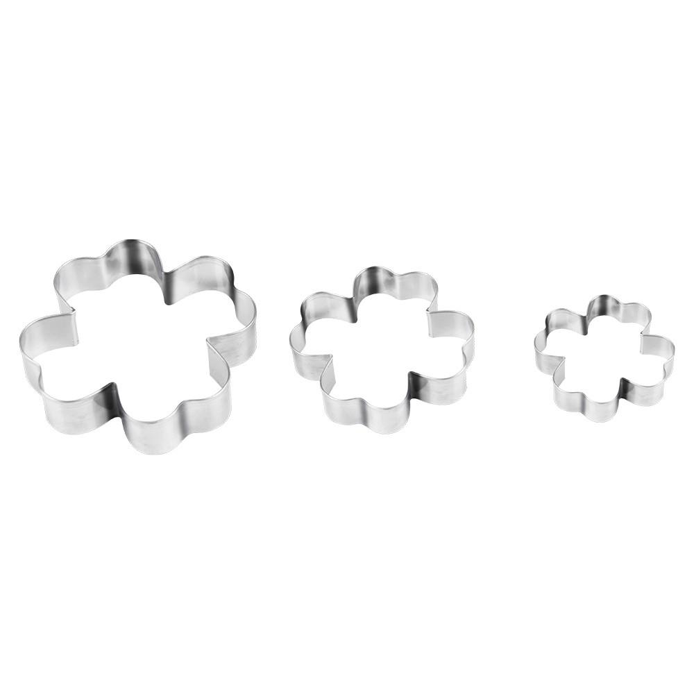Kit Formas para Moldar Trevo em Aco Inox 3 Pecas - Marcamix
