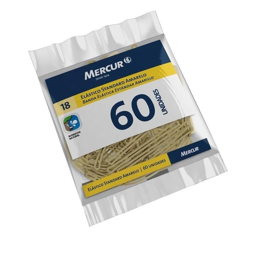 Elastico Standard Amarelo 60 unidades - Mercur