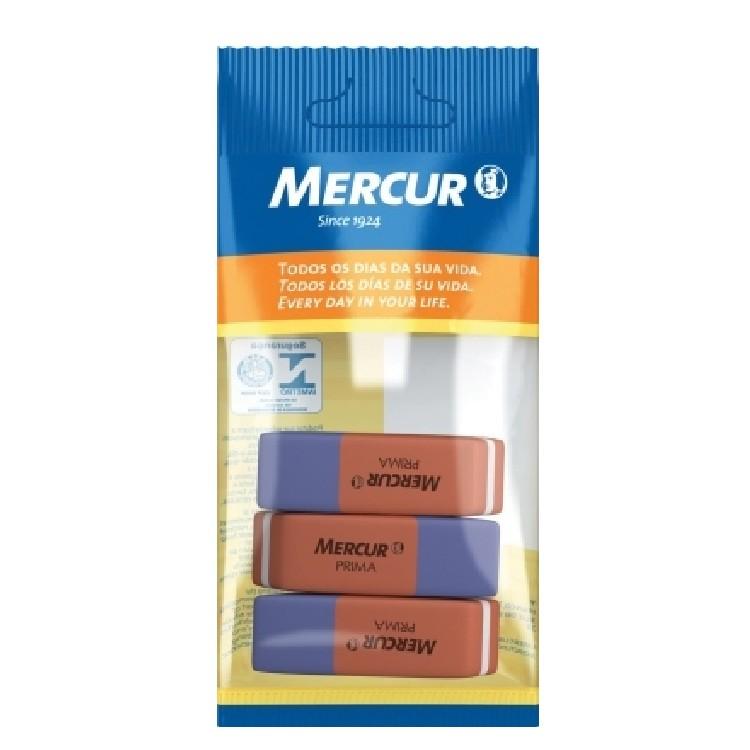 Borracha Bicolor Prima com 3 unidades - Mercur