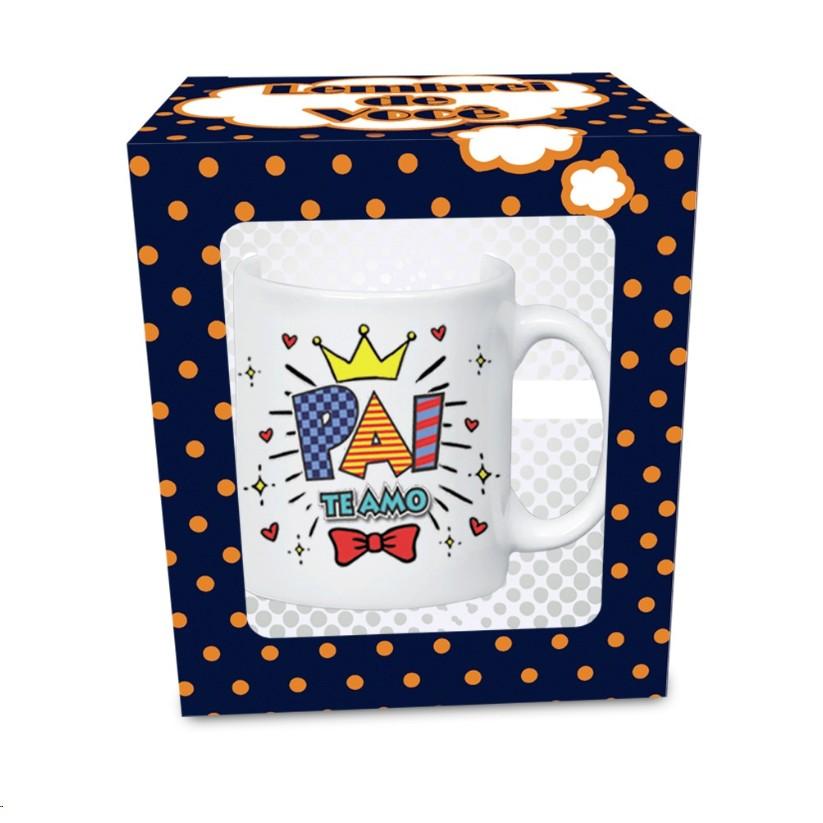 Caneca Pai Te Amo 330ml em Ceramica - Ceramica Regina