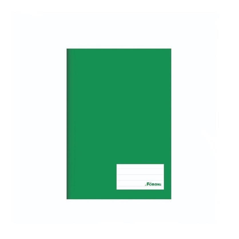 Caderno Capa Dura Basico 14 96 Folhas Verde