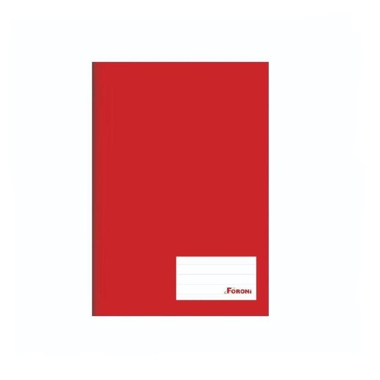 Caderno Capa Dura Universal 96 folhas Vermelho