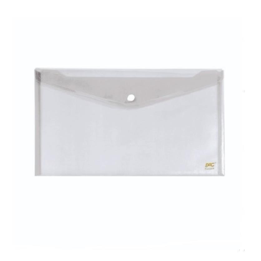 Pasta Envelope com Botao A4 Transparente