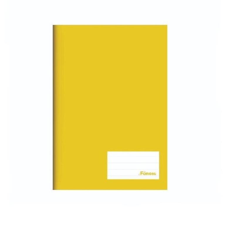 Caderno Capa Dura Basico 14 96 folhas Amarelo