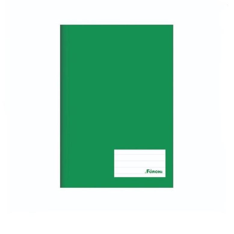Caderno Capa Dura Universal 96 folhas Verde
