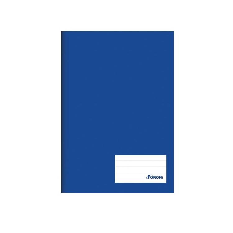 Caderno Capa Dura Basico 14 96 folhas Azul