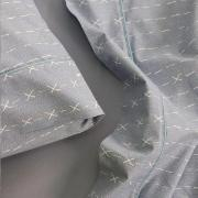 Jogo de Lençol Azul Solteiro 100% Algodão 3 peças - Artex
