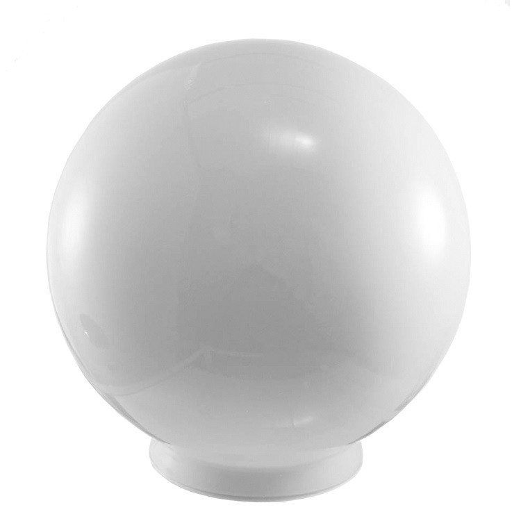 Globo de Vidro Universal Leitoso 20cm para Postes e Plafons Branco - Madelustre
