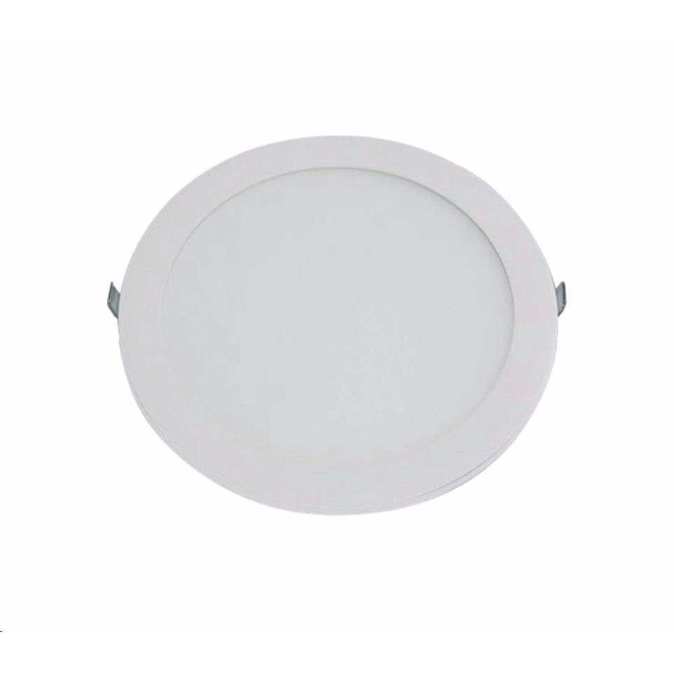 Painel Slim LED Redondo de Embutir 6W Luz Amarela - Glight