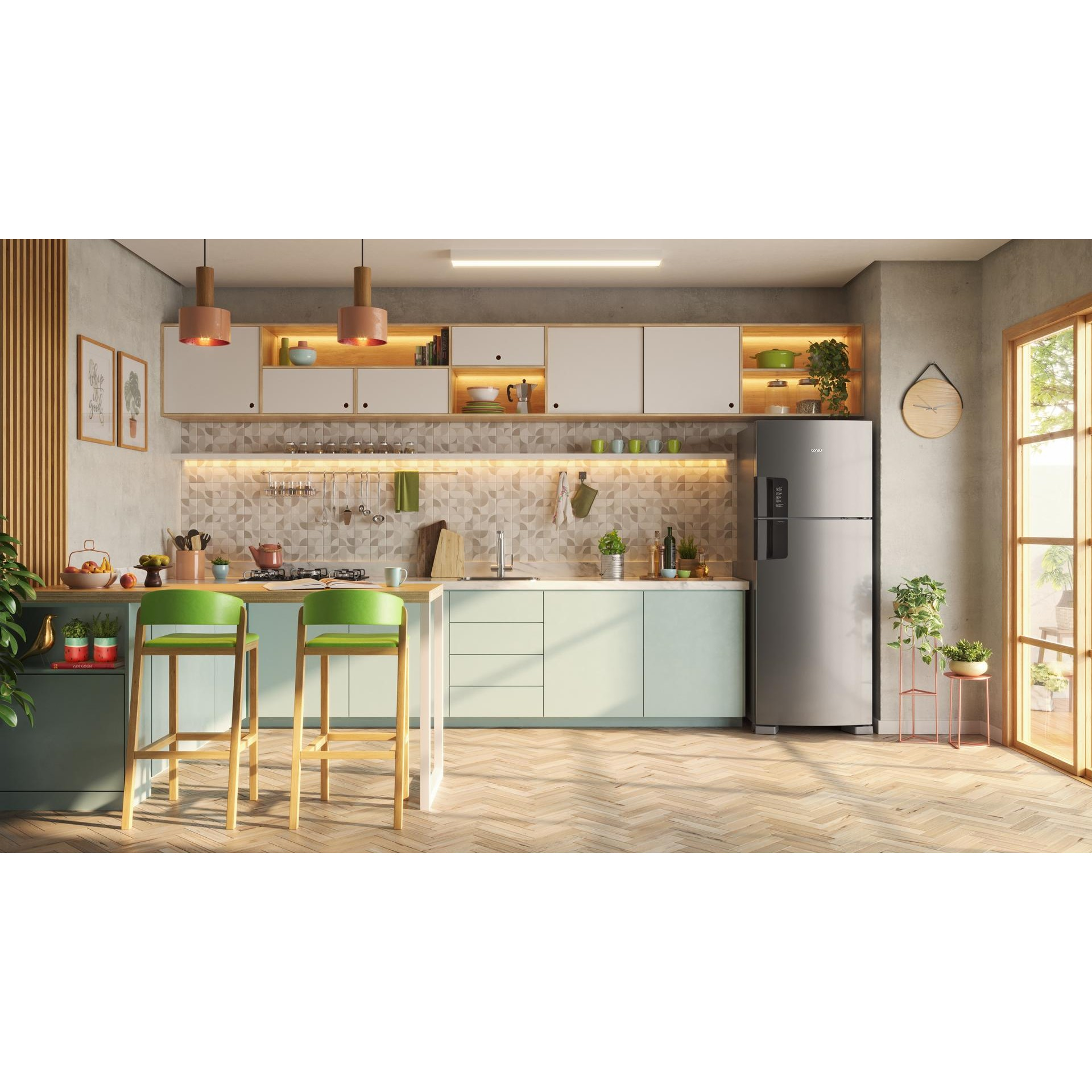Geladeira/refrigerador 450 Litros 2 Portas Inox - Consul - 110v - Crm56hkana