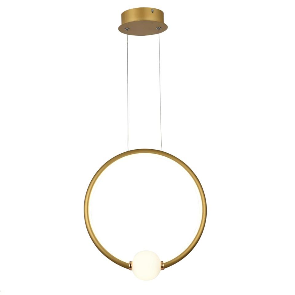 Lustre LED de Aluminio e Metal 20W Luz Branca Ouro - LPL-001D - Nitrolux