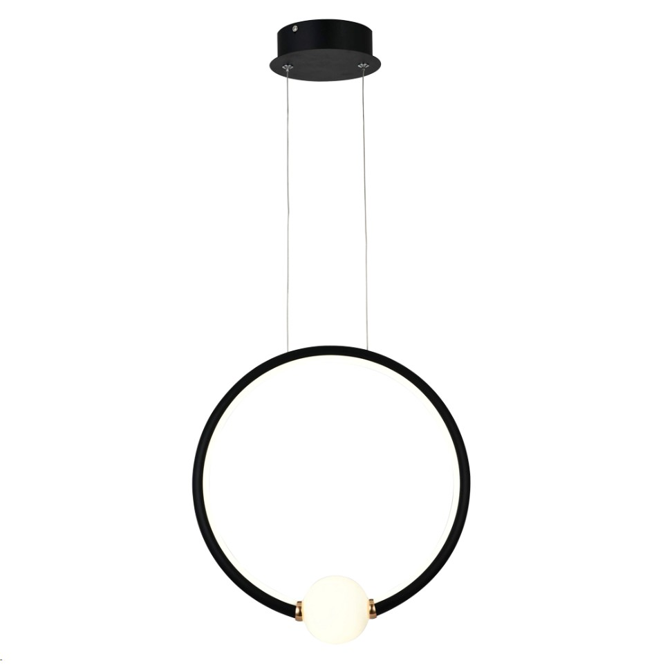 Lustre LED de Aluminio e Metal 20W Luz Branca Preto - LPL-001P - Nitrolux