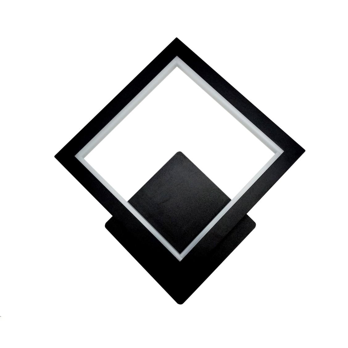 Arandela LED de Metal 12W Luz Branca - LA-001P - Nitrolux