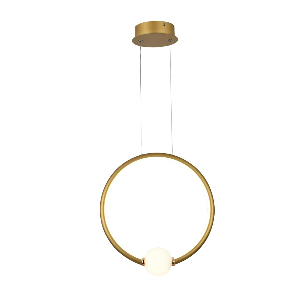 Lustre LED de Aluminio e Metal 30W Luz Branca Ouro - LPL-002D - Nitrolux