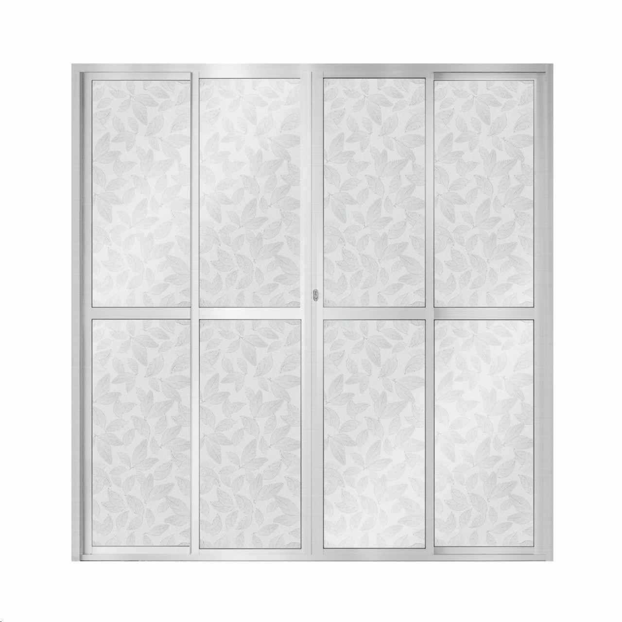 Porta Balcao de Aluminio 4 Folhas 210x200cm Cinza - 921907 - Aluvid