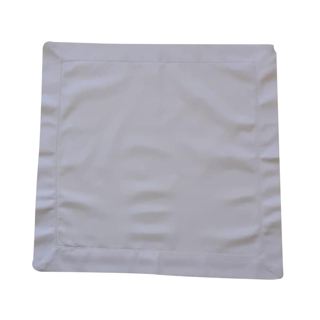 Guardanapo Ponto Aju 40x40cm Tecido Branco - Noemy Artesan