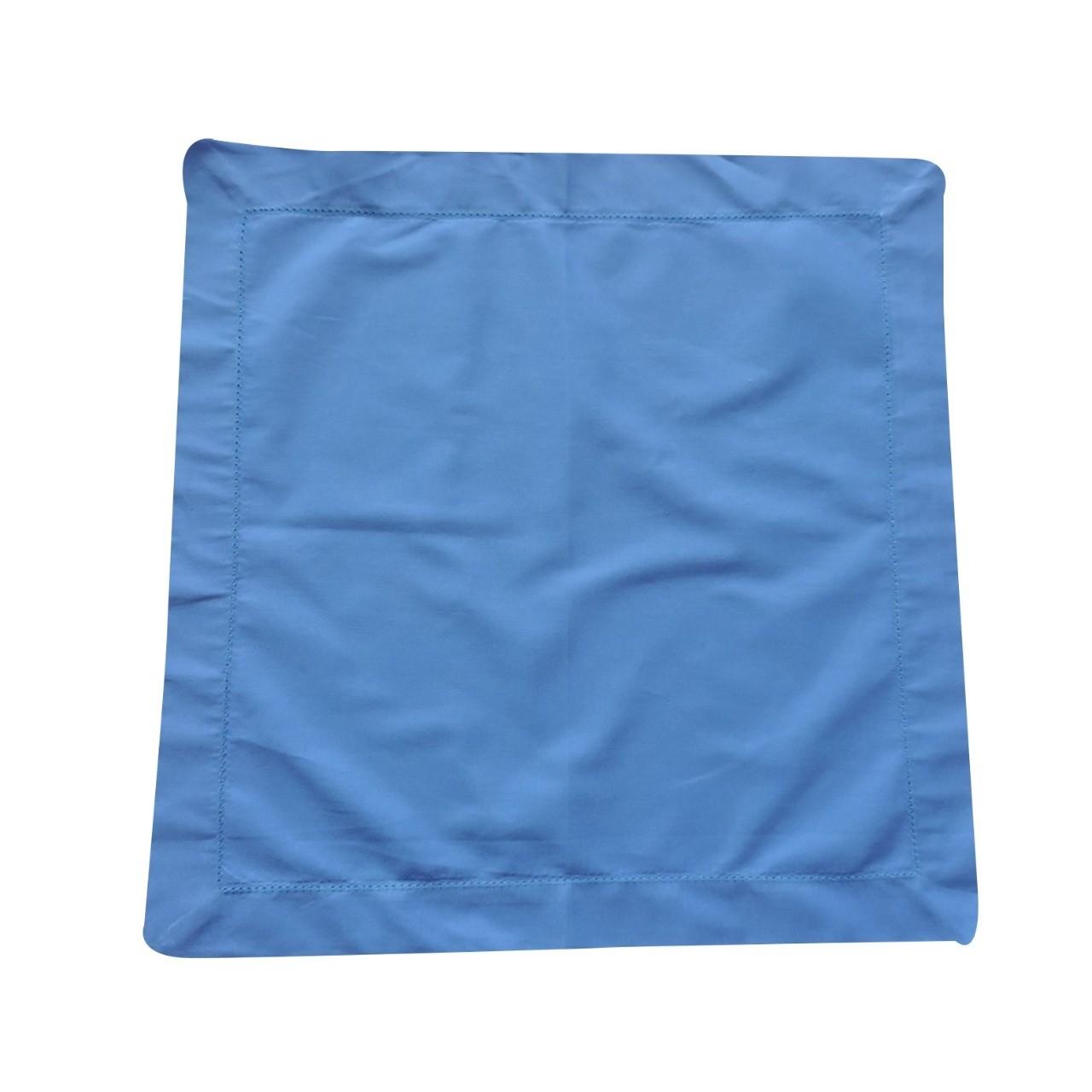 Guardanapo Ponto Aju 40x40cm Tecido Azul - Noemy Artesan