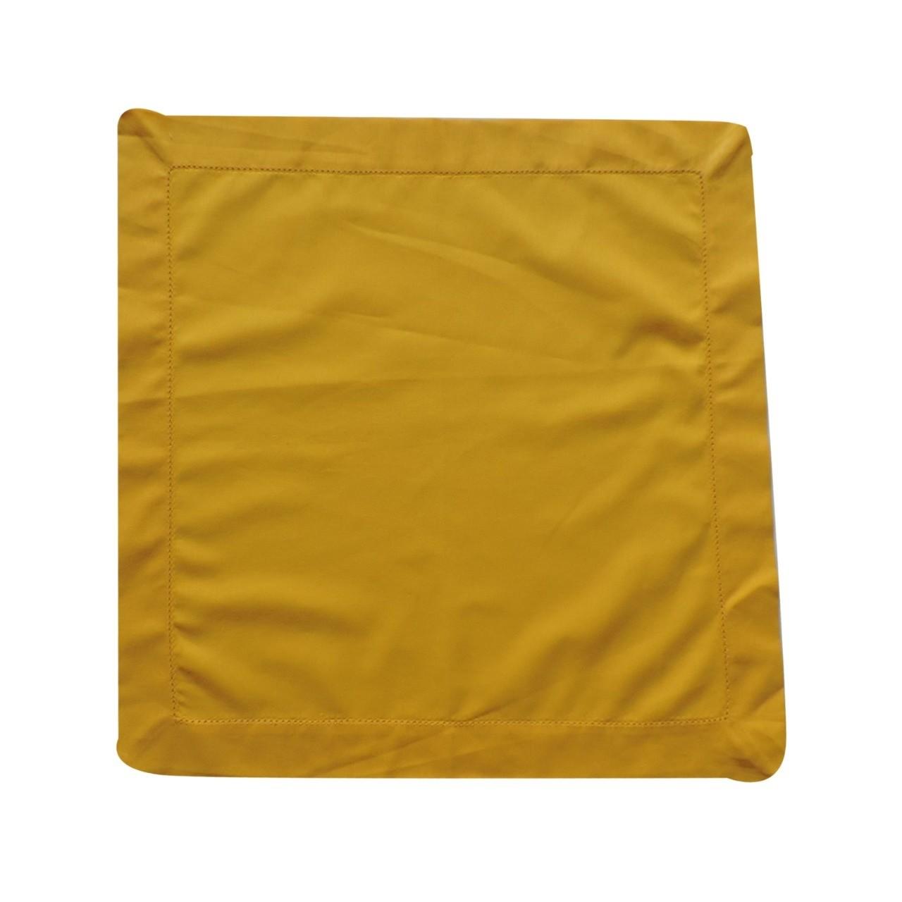 Guardanapo Ponto Aju 40x40cm Tecido Amarelo - Noemy Artesan
