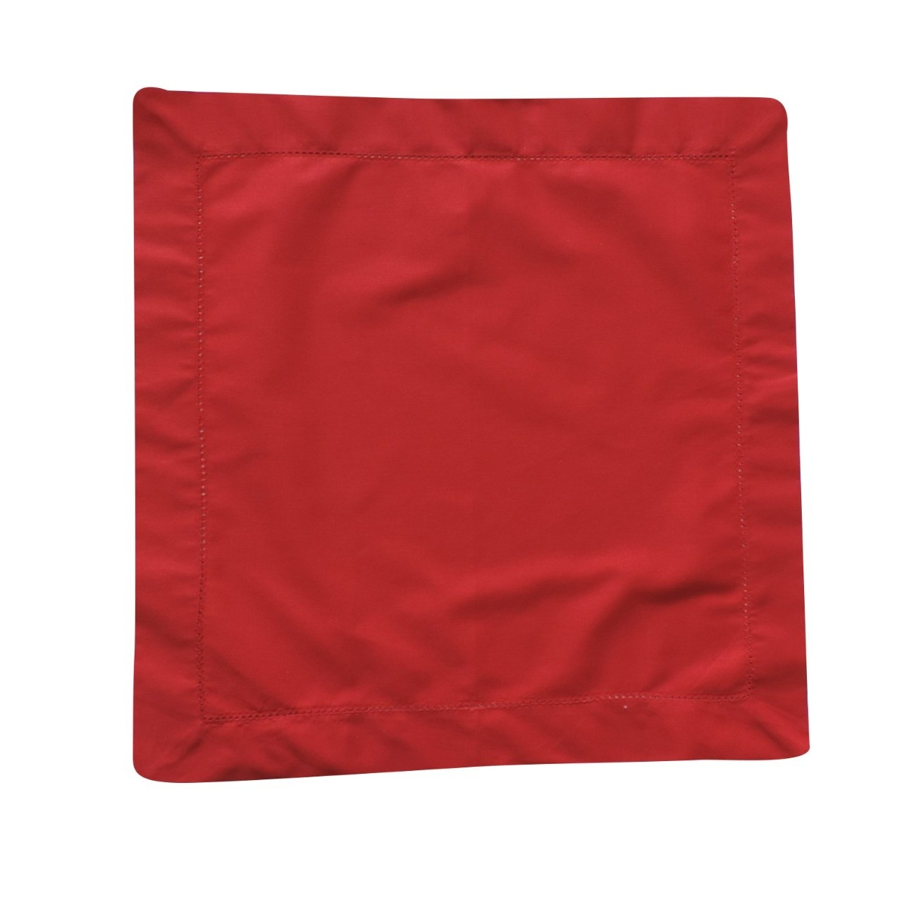 Guardanapo Ponto Aju 40x40cm Tecido Vermelho - Noemy Artesan