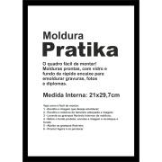 Quadro Decorativo Pratika 21x29cm Preto - Kapos