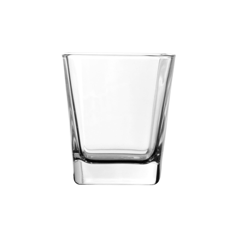 Copo Quadro 280ml de Vidro Transparente - Mypa