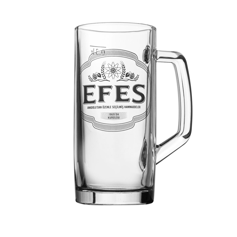 Caneca de Vidro Chopp Efes 300ml Incolor - Mypa