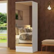 Sapateira Isis 1 Porta com Espelho 40x182cm Branca - Madesa