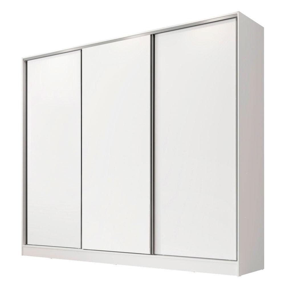 Guarda-Roupa Casal Royale 3 Portas de Correr Branco 6309 - Madesa