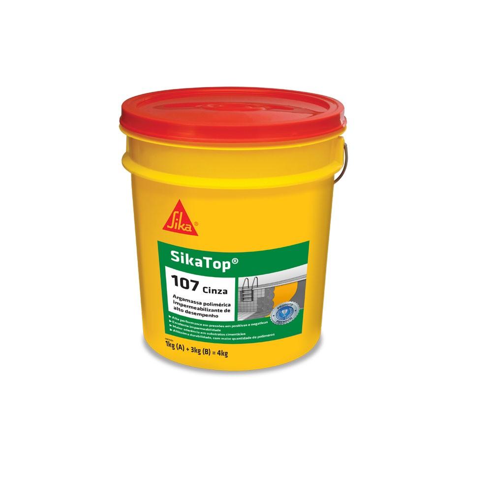 Impermeabilizante Sikatop 107 Cinza 4kg-Sikka
