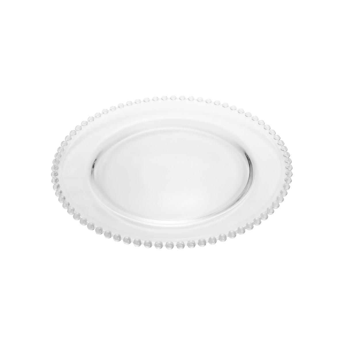 Prato Pearl Wolff Cristal Raso 28cm Transparente - Rojemac